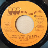 Medley: I Won't Last A Day Without You/Let Me Be The One - Al Wilson