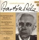 Rhapsodies Nos. 1.-2. / Rhapsody No. 1. / Contrasts - Béla Bartók