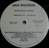 The Weekend Of A Private Secretary - Bernadette Peters