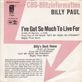 I've Got So Much To Live For - Billy Paul
