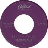 Return To Me - Dean Martin