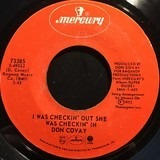 I Was Checkin' Out She Was Checkin' In / Money (That's What I Want) - Don Covay