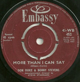 More Than I Can Say / Hello Mary Lou - Don Duke & Bobby Stevens