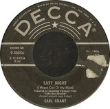 Last Night (I Went Out Of My Mind) / Imitation Of Life - Earl Grant