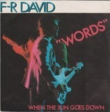 Words / When The Sun Goes Down - F.R. David