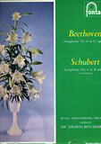 "Symphony No. 8 In B Minor (""Unfinished"") / Symphony No. 8 In F Major, Op. 93 - Schubert / Beethoven (Beecham)"