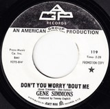 Don't Worry About Me / Back Home Again - Gene Simmons
