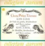Suite A-Moll Für Blockflöte & Orchester / Suite D-Dur Für Viola Da Gamba & Orchester - Georg Philipp Telemann , Collegium Aureum