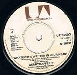 Whatever's Written In Your Heart - Gerry Rafferty