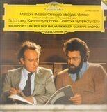 Masse / Kammersymphonie op.9 - Giacomo Manzoni / Arnold Schönberg