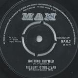 Nothing Rhymed - Gilbert O'Sullivan