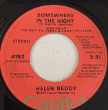 Somewhere In The Night / Ten To Eight - Helen Reddy