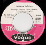 Il Est Cinq Heures, Paris S'éveille / L'augmentation - Jacques Dutronc