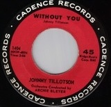 Without You / Cutie Pie - Johnny Tillotson