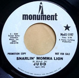 Snarlin' Momma Lion / Stronger Than A Man (Can Only Be A Woman) - Judd