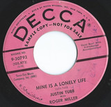 Mine Is A Lonely Life - Justin Tubb With Roger Miller