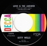 Love Is The Answer / A Bridge I Just Can't Burn - Kitty Wells