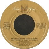 Lovin' Her Was Easier (Than Anything I'll Ever Do Again) / Me And Bobby McGee - Kris Kristofferson