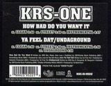 How Bad Do You Want It - KRS-One