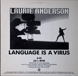 Language Is A Virus - Laurie Anderson