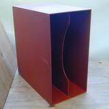 in dunkelrot, für ca. 40 LPs - LP-Box, 70er Jahre