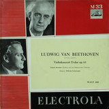 Violinkonzert D-Dur op. 61 - Ludwig van Beethoven - Yehudi Menuhin (Violine) Und Philharmonia Orchestra , Dirigent: Wilhelm Furt