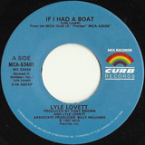 If I Had A Boat / Black And Blue - Lyle Lovett
