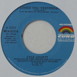 I Loved You Yesterday / L..A. County - Lyle Lovett