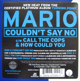 Couldn't Say No / Call The Cops / How Could You - Mario