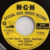 Top Forty, News, Weather And Sports / Suddenly (There's Only You) - Mark Dinning