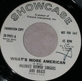 What's More American / America The Beautiful - Maurice Bower Singers And Brass
