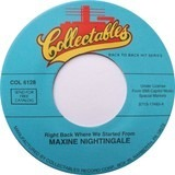 Right Back Where We Started From / Wildflower - Maxine Nightingale / Skylark