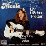 Ein Bißchen Frieden / Thank You, Merci, Danke - Nicole