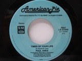 Times Of Your Life / (You're) Having My Baby - Paul Anka