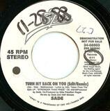 Turn My Back On You - Sade