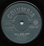 You'll Never Know - Shirley Bassey