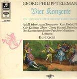 Vier Konzerte Für Flöte, Oboe, Streicher und Basso Continuo - Telemann