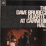 At Carnegie Hall - Part 1 - The Dave Brubeck Quartet