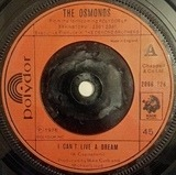 I Can't Live A Dream - The Osmonds