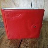 in rot, für 20 Singles - Vintage Schallplattenalbum