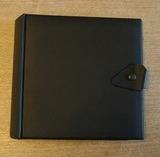 in schwarz, glatt, für 20 Singles - Vintage Schallplattenalbum