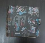 in schwarz, im München-Design, für 20 Singles - Vintage Schallplattenalbum