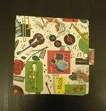 mit Musik-Motiven, für 20 Singles - Vintage Schallplattenalbum