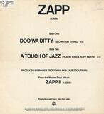 Doo Wa Ditty (Blow That Thing) / A Touch Of Jazz (Playin' Kinda Ruff Part II) - Zapp