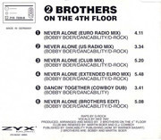 CD Single - 2 Brothers On The 4th Floor - Never Alone