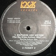 12inch Vinyl Single - 2 Funky 2 Starring Kathryn Dion King - Brothers & Sisters