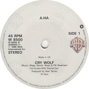 7'' - a-ha - Cry Wolf - Paper Labels