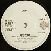 7inch Vinyl Single - a-ha - Cry Wolf - Paper Labels