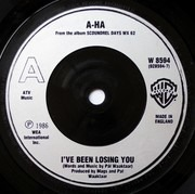 7inch Vinyl Single - a-ha - I've Been Losing You - Silver Injection Labels