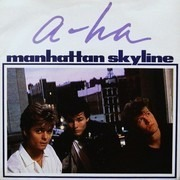 7inch Vinyl Single - a-ha - Manhattan Skyline - Paper Labels